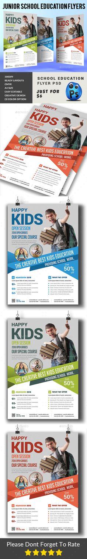 Junior School Education Flyer Template PSD