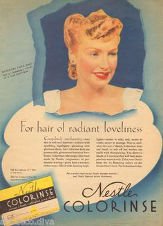 1940s Vintage Nestle Colorinse Hair Color Beauty Shop Salon Cosmetology Ad | eBay