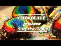 Chocolate Rainbow Surprise Cake Recipe - BestRecipeTube.com|BestRecipeTube.com