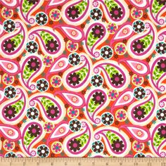 Peralta Paisley Orange from @fabricdotcom  From Fabric Editions, this cotton print is perfect for quilting, apparel and home décor accents. Colors include white, sand, orange, pink, brown, lime green, green and turquoise.