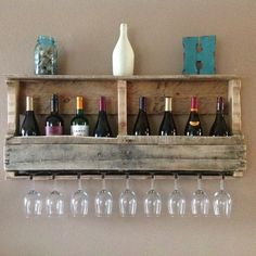 recycled wood ideas | Pinterest Worthy: Designing with Pallets – wine rack – Coffee Tea ...