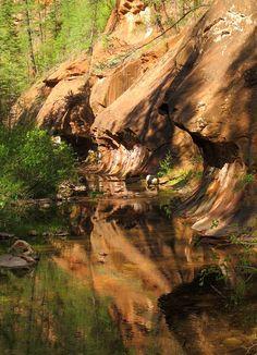 West Fork Oak Creek Trail, Coconino National Forest, Sedona, Arizona. Photo: Terry.Tyson, via Flickr✔zϮ