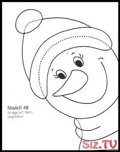 Basteln Basteln - New Ideas Christmas Door, Christmas Mugs, Christmas Crafts For Kids, Holiday Crafts, Xmas, Christmas Ornaments, Homemade Crafts, Diy And Crafts, Snowman Coloring Pages