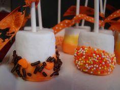 Halloween candy-corn marshmallow treats