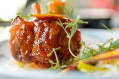 The wood-burnt pork shank at HSL in Salt Lake City. (Trent Nelson  |  The Salt Lake Tribune)