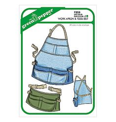 pattern GPF859 - Work Apron & Tool Belt from green Pepper, Inc.