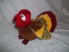 Webkinz Ganz Gobbler Turkey Stuffed Animal Plush HM426 Thanksgiving Toy | eBay