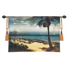 Fine Art Tapestries Cityscape, Landscape, Seascape Tropical Coast Tapestry