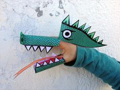 Titella de paper del drac per a treballar la ràbia i els arquetips!