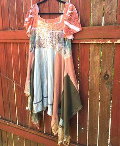 Bohemian Kouture Upcycled Clothing Cotton Orange Jersey