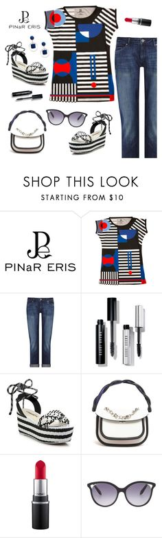 """""""Outfit of the Day"""" by sproetje ❤ liked on Polyvore featuring DL1961 Premium Denim, Bobbi Brown Cosmetics, Sophia Webster, Marni, MAC Cosmetics, Victoria Beckham, Sole Society, StreetStyle, ootd and printedtee"""