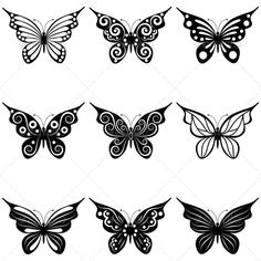 ME: henna tattoo ideas. Henna Butterfly, Butterfly Tattoo Designs, White Butterfly, Folk Embroidery, Art Graphique, Kirigami, Henna Designs, Clipart, Vector Art