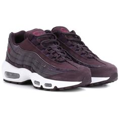 huge selection of cd22b 44f20 Nike Air Max 95 Leather Sneakers (175 AUD) ❤ liked on Polyvore featuring  shoes, sneakers, purple, leather shoes, genuine leather shoes, nike  trainers, nike ...