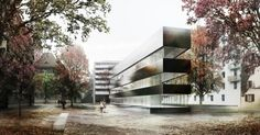 ETB Studio project for Carrouge, Switzerland  auxiliary building to an existing school