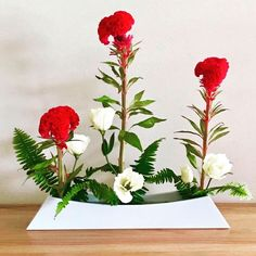"20 Likes, 1 Comments - stephencoler.com (@stephencoler.ikebana) on Instagram: ""A beautiful arrangement by one of my online ikebana students from America! Narabu-katachi (One-Row…"""