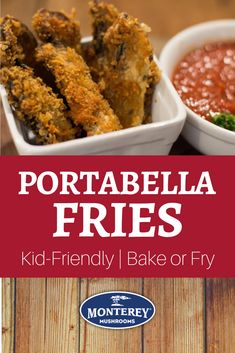 Running low on portabella mushroom recipes that are family friendly? Try these portabella mushroom fries! They're easy to make and can be either baked or fried. Plus, it's a kid-friendly heatlhy fry recipe and a nice way to get them to eat more veggies. Fried Mushroom Recipes, Vegetarian Mushroom Recipes, Best Mushroom Recipe, Mushroom Appetizers, Baked Portabella Mushrooms, Fried Mushrooms, Stuffed Mushrooms, Appetizer Recipes, Bakken