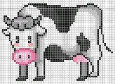 borduren koe kruissteekpatronen cow cross stitch chart