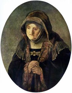 Rembrandt Harmenszoon van Rijn. Portrait of the artist's mother. 1639. 79,5 x 61,7 cm oil on wood. Baroque. The Netherlands (Holland)