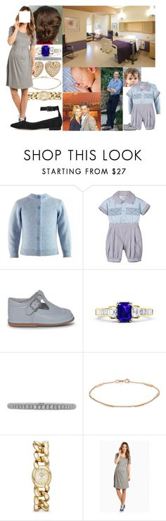 """""""Being visited by David and her parents in the morning and introducing them to the new baby"""" by josephineofbaden ❤ liked on Polyvore featuring Lucie Campbell, Jennifer Meyer Jewelry, FOSSIL and Schutz"""