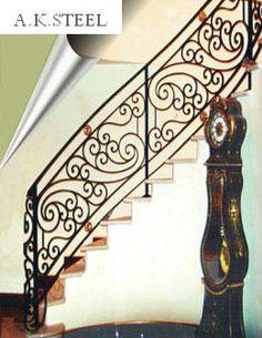 iron stair railings - Google Search