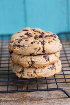 How to make the best Thick & Chewy Peanut Butter Chocolate Chip Cookies EVER! These are the perfect peanut butter chocolate chip cookie!