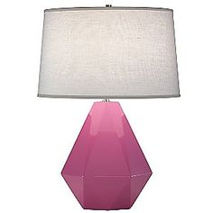 Adorable, geometric, and comes in great jewel tones: Delta Table Lamp by Robert Abbey