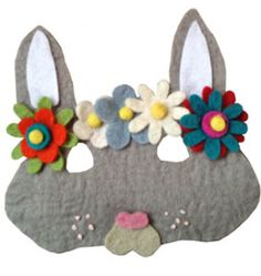 So much fun for Easter at charlie's bucket : Little Lamb Felt Rabbit Mask
