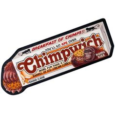 Chimpwich Ice Cream: Topps Wacky Packages Wall Graphics from WALLS 360. http://www.walls360.com/wackypackages