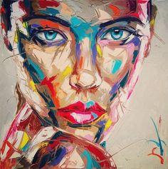 Faces iii vassilis antonakos art face paint in 2019 abstract face art, Abstract Face Art, Abstract Canvas, Abstract Portrait Painting, Canvas Art, Arte Pop, Cow Painting, Oil Painting On Canvas, Art Exhibition Posters, Monet Exhibition