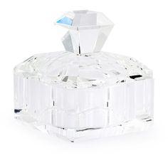 BOX JEWEL CRYSTAL SKU 600113  Handmade crystal storage with top. #crystal #box #abhika