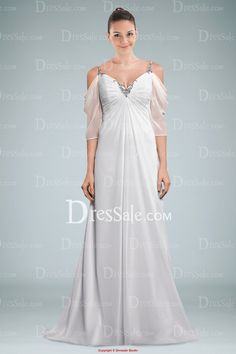 Spaghetti Straps Wedding Dress Twist