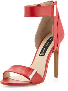 be7171d0ce9b Love this  Lizete Plated Zip Sandal Red  Lyst Shoes Heels Wedges