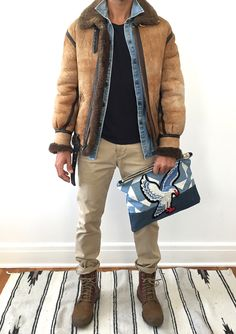 """Den & Delve Shop / Deserts & Canyons collection look #7 featuring """"Big Sky"""" quilted eagle pouch"""