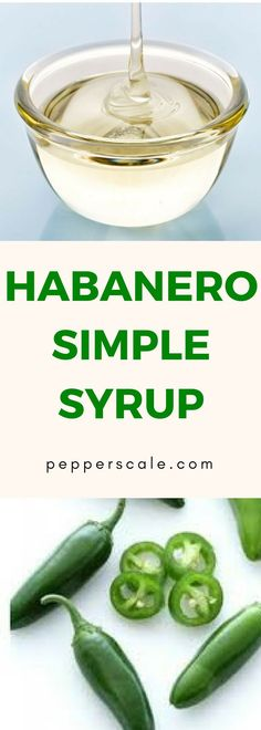 A fiery solution for spicing up any cocktail…Simple syrup is a bartender's best friend; it helps them turn ordinary drinks into something extra special. Habanero Recipes, Chipotle Recipes, Spicy Appetizers, Appetizer Recipes, Cocktail Recipes, Cocktails, Spicy Drinks, Chicken Wings Spicy, Stuffed Hot Peppers