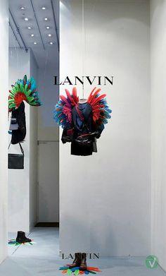 Lanvin windows, Paris visual merchandising