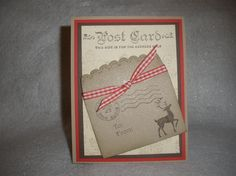 #winter post #scallop envelop #stampin up