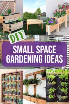 Small backyards or balconies are no match for these easy and creative DIY garden ideas for beginners! Turn your small space into a plant paradise! #gardening #diywoodworking #AnikasDIYLIfe Kreg Jig Projects, Easy Woodworking Projects, Woodworking Plans, Outdoor Projects, Diy Projects, Chocolate Diy, Small Backyards, Small Space Gardening, Balconies