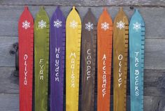 Personalized ski-inspired Growth Chart Art