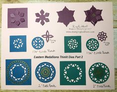 Part 2 Of the Eastern Medallions Thinlits Display Board, Kay Kalthoff, Eastern Palace Product Suite, #stampingtoshare