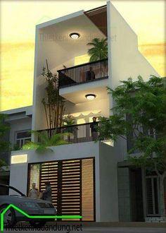 Exterior house entrance interiors ideas for 2019 House Front Design, Small House Design, Modern House Design, Modern Exterior, Exterior Design, Modern Home Exteriors, Narrow House, House Entrance, Entrance Ideas
