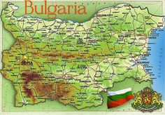 Map of Bulgaria one of the five states of Black Sea -Mediterranean.The Black Sea lies in the southeastern part of Europe, it connects with the Mediterranean through a series of other waterways. The Bosporus Strait, the Sea of Marmara, and the Dardanelles Strait link the Black Sea to the Aegean Sea, the Mediterranean Sea.