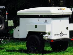 Turtleback Trailers for off-road and off-grid camping with 42-gallon water tank. ($11,000+)