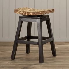 Add a revitalizing element to your poolside bar or beach home with the Beachcrest Home Carol City Swivel Bar Stool. Typical of the coastal style, this bar stool has a strong and sturdy teakwood base and beige colored saddle-style seat. It has various finishes on the base, which can be chosen in accordance to your decor. The Beachcrest Home Carol City Swivel Bar Stool has a durable footrest and stands on four resilient legs, which provides optimum comfort while you enjoy a drink. At 22…