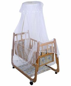 Mee Mee Wooden Cradle White Online in India, Buy at Best Price from Firstcry.com - 249130