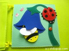 Felt book about insects