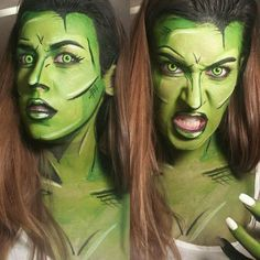This Hulk makeup job presumably lasted a bit longer than it takes for Bruce Banner to undergo his transformation. Source: Lianne Moseley via Distractify