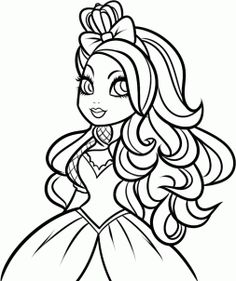 how to draw apple white, ever after high step 7