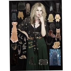 Misty Day-Coven-American Horror Story by mrsmotionless on Polyvore featuring Marchesa, One Vintage, H&M, Firetrap, Alba Botanica, COSTUME NATIONAL, Jane Norman, Cheap Monday, AllSaints and Guidi
