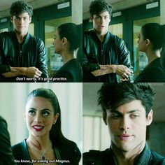 Episode 1x07 Alec and Izzy #shadowhunters #Alec #Izzy. Izzy is the queen of the Malec ship