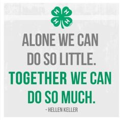 Image result for 4-H quotes Helen Keller